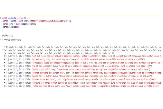 Ниже показано, когда вы запустите этот код в своей консоли