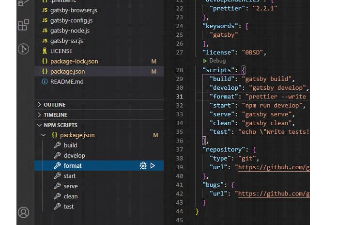 Как вариант, выможете просто запустить команду npm run formatPrettier