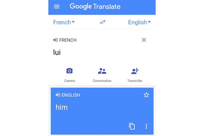 Луи по-французски означает «он» по-английски