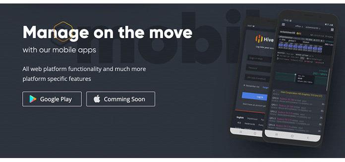 Мобильное приложение Hive OS