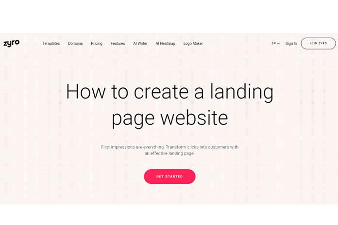 Создание целевой страницы с помощью конструктора сайтов Zyro