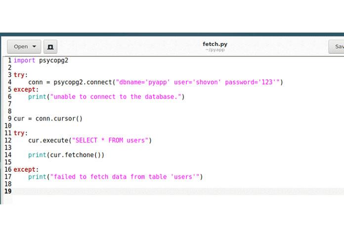 Сначала создайте новый скрипт Python fetch.py ивведите следующие строки кода