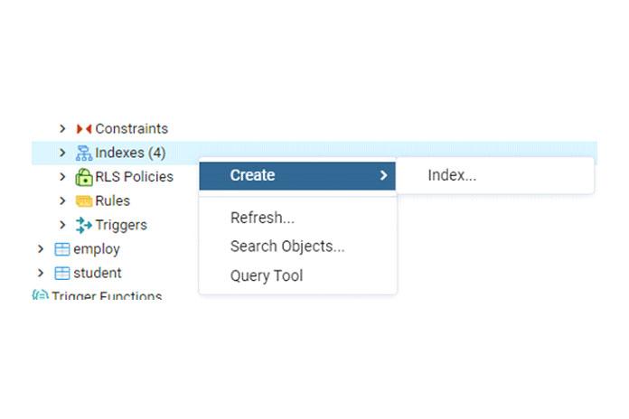 Создайте индекс для данной таблицы 'emp' или конечного отображения