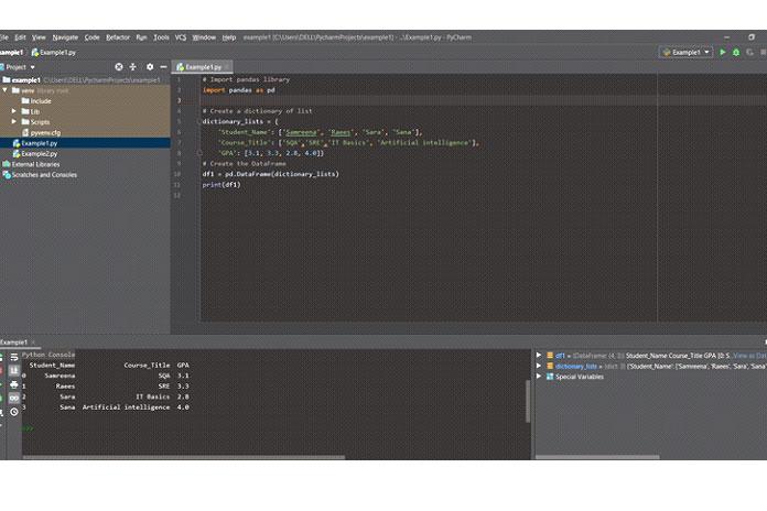 Создание Pandas DataFrame изсловаря списков