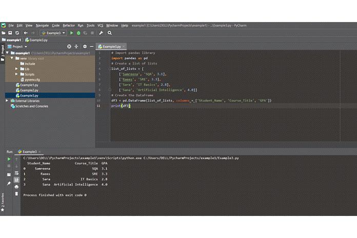 Создание pandas DataFrame сиспользованием списка списков