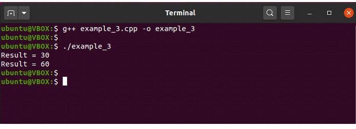 Теперь вэтом примере мыперегрузим функцию «сложение ()»