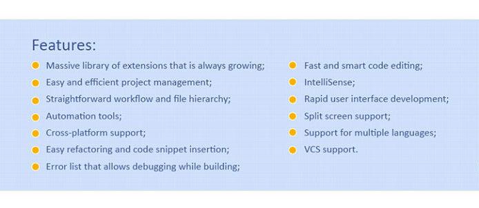 В Visual Studio можно создавать проекты как C