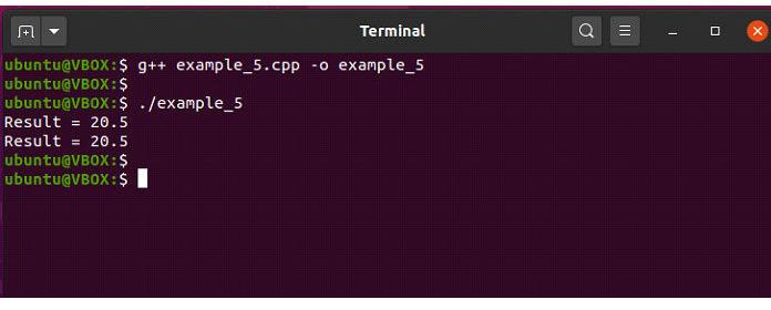 Вэтом примере функция «сложение ()» перегружена из-за различий