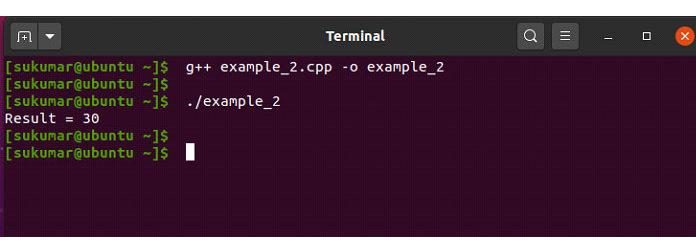 Вэтом примере текущая реализация функции «сложение ()»