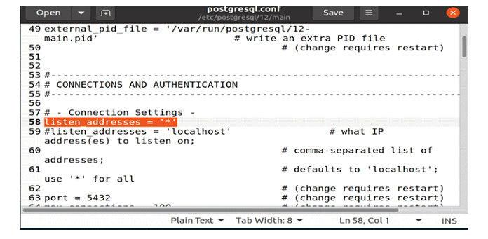 доступ ксерверу PostgreSQL2