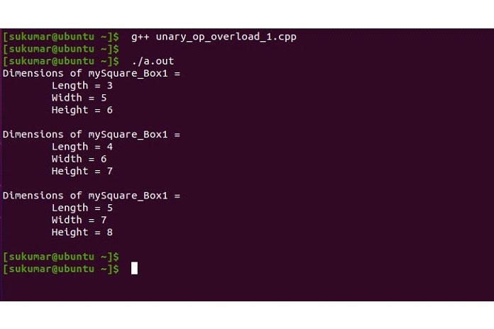 перегрузка унарного оператора (1)
