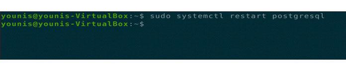 перезапустите PostgreSQL