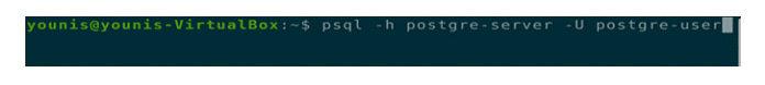 подключитесь кPostgreSQL