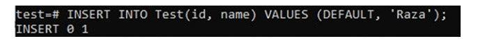 Альтернативная версия указанного выше запроса навставку использует ключевое слово