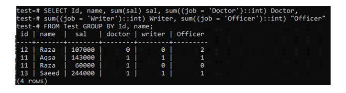 Давайте создадим сводную таблицу, которая суммирует запись таблицы