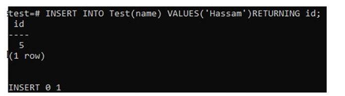 Другой способ проверить значение столбца типа данных SERIAL
