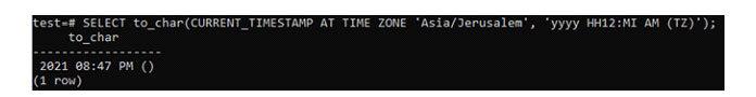 Когда выуказываете часовой пояс взапросе SELECT