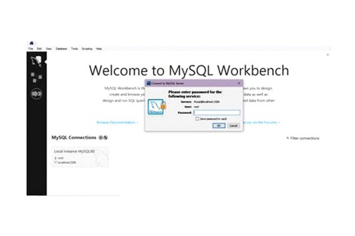 Откройте MySQL Workbench
