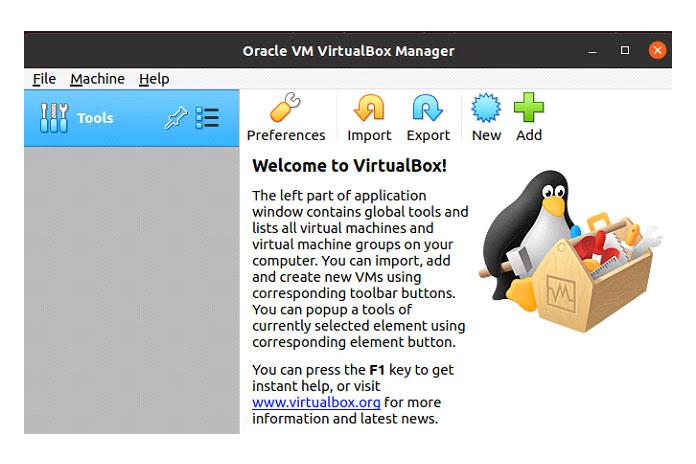 Перейдите в«Действия» инайдите «VirtualBox»