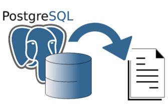 PostgreSQL с использованием данных