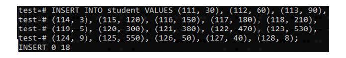Теперь таблица заполнена огромным количеством данных
