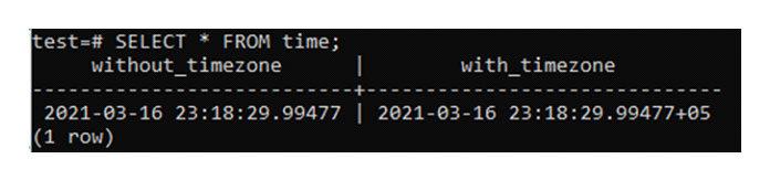 Теперь выможете получить запись изтаблицы time, используя запрос