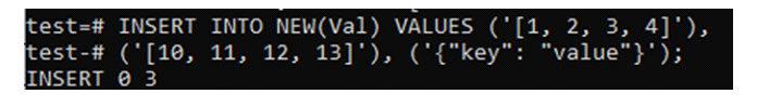 Вставьте некоторые значения встолбец «Val»