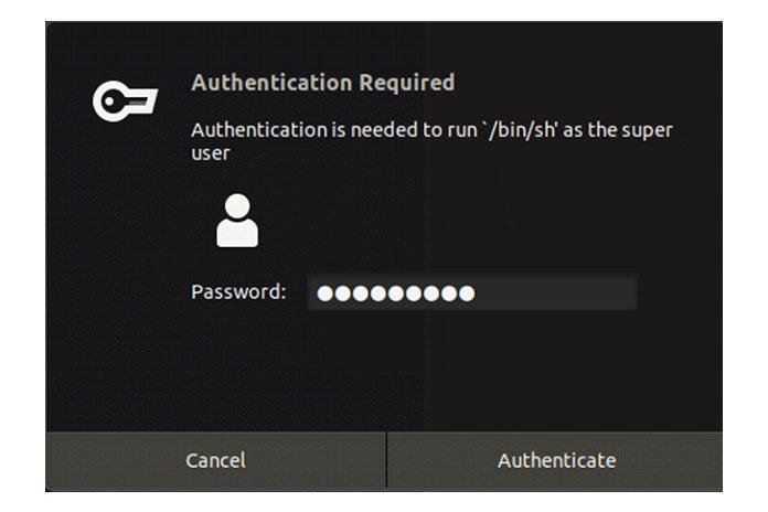 Выможете продолжить иввести свой пароль sudo