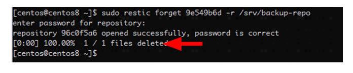 Однако команда Forgot по-прежнему резервирует данные