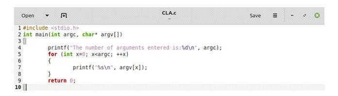 Онсостоит изпараметров «argc» и«argv []», детали которых мыуже объяснили выше