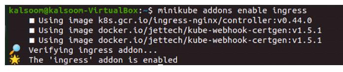 Поскольку вэтой команде есть ключевое слово «enable»