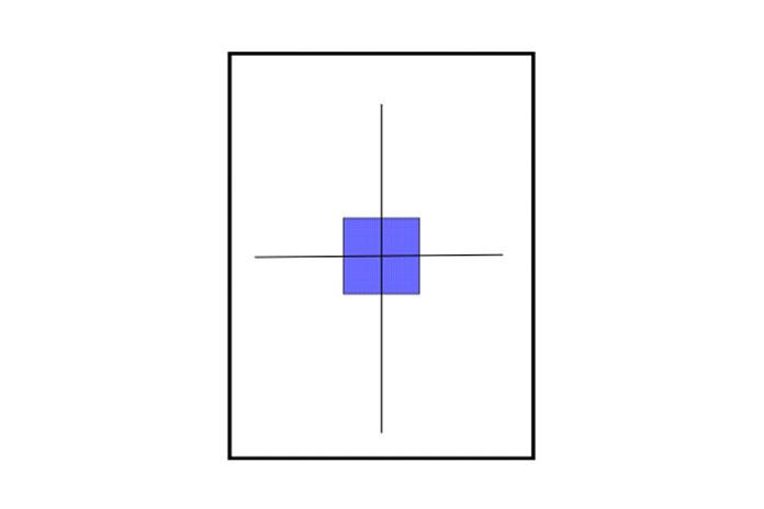 С точки зрения пользователя, прямоугольник перемещался вниз и вправо на экране