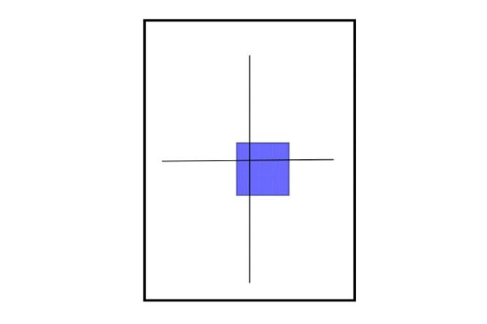 С точки зрения пользователя, прямоугольник перемещался вниз