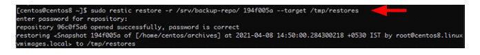 Восстановить файлы изсохраненного снимка просто