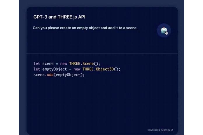 GPT-3 может создавать 3D-сцены спомощью Javascript API three