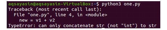 Ксожалению, вывод этого кода приведет кошибке