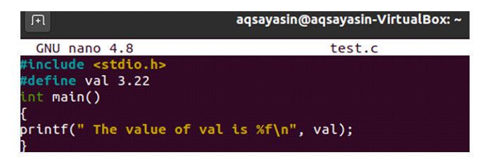 Мыдолжны создать такойже код, как показано наизображении ниже
