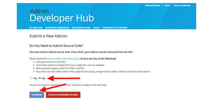 На следующем шаге вас попросят указать, использует ли ваша надстройка какие-либо компиляторы