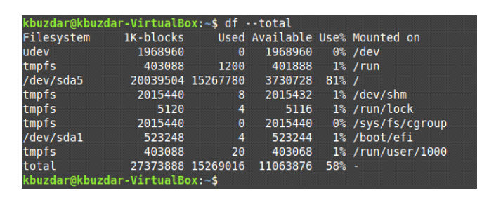Отображение общего пространства файловых систем вLinux