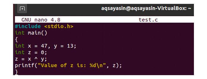 Побитовый оператор возвращает 1, если оба числовых бита различны
