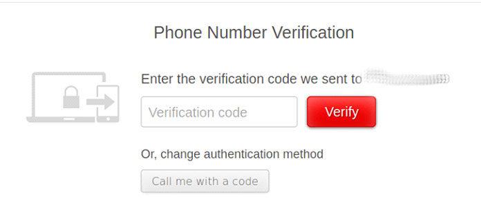 Подтвердите номер телефона спомощью кода, отправленного поSMS