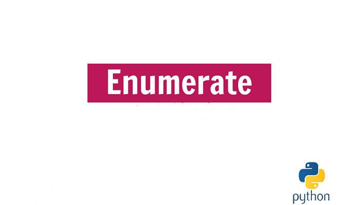 Примеры enumerate Python