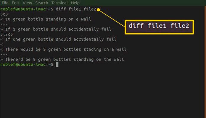 Примеры команды «diff» в Linux