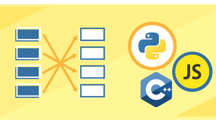 Reverse (обращения) строки в JavaScript, C ++ и Python