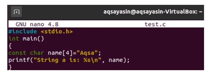 Теперь тотже код был обновлен строковым литералом