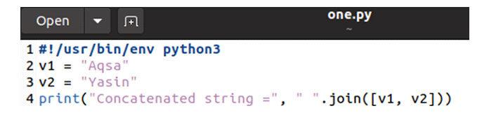 Выполните код сзапросом «python3», как показано ниже