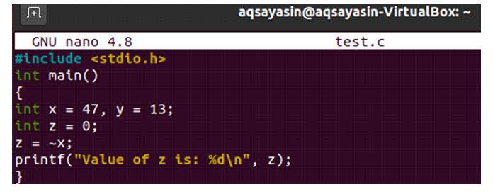 тот оператор будет применен только к одной переменной и вернет значение номера бита