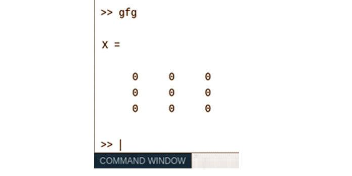 Этот код возвращает матрицу нулей 3×3
