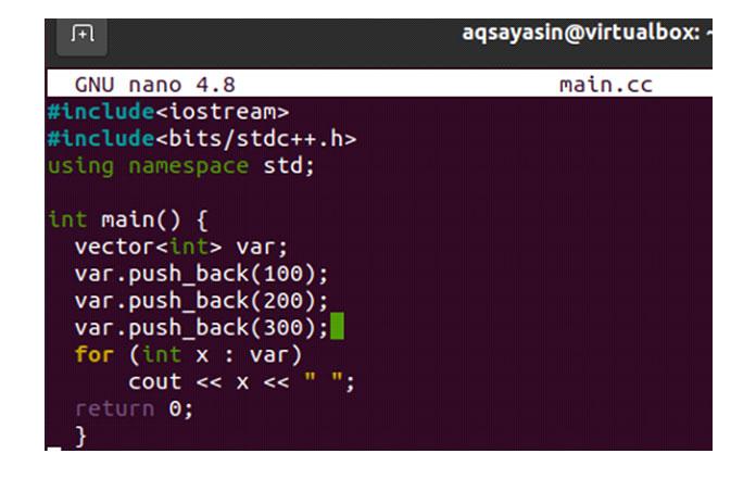 Итак, вам нужно сначала скомпилировать код файла