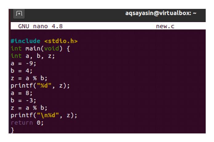 Компиляция ипоследующее выполнение кода дали нам выходной модуль